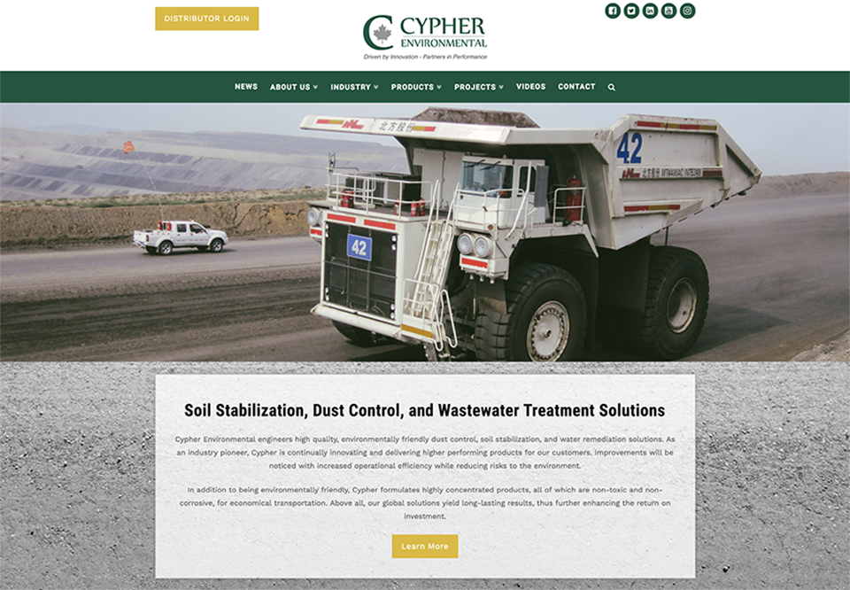New Website - Cypher Environmental