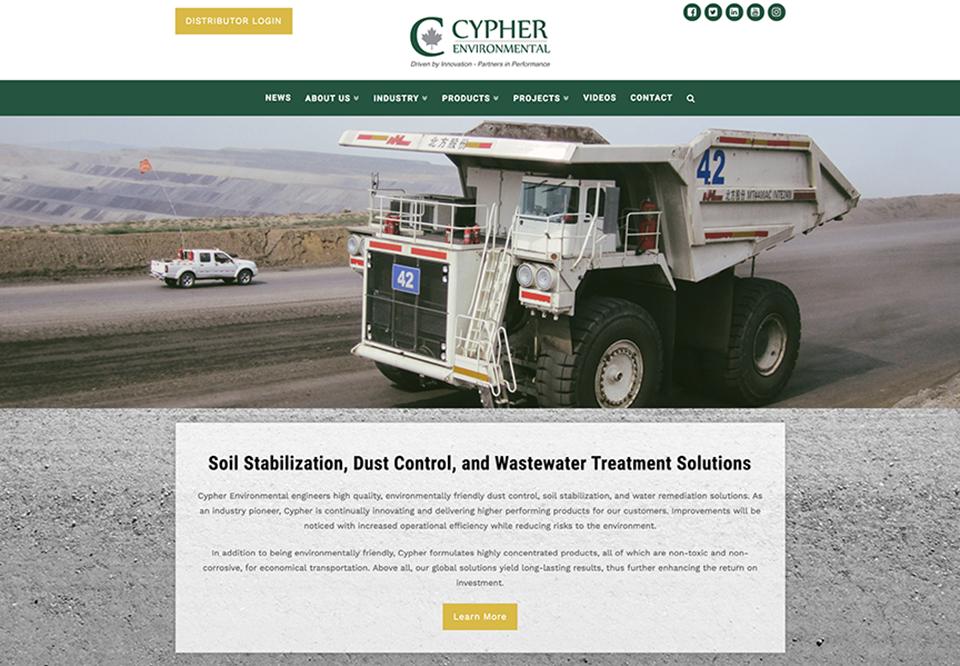 New Website - Cypher Environmental